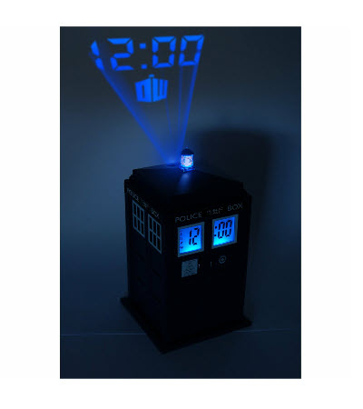 wecker tardis mit projektion doctor who projektionswecker. Black Bedroom Furniture Sets. Home Design Ideas