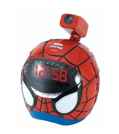 Spiderman Wecker mit Projektion