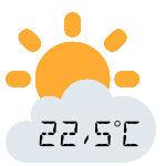 Projektionswecker mit Temperatur